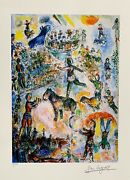 Marc Chagall Circus Grand Limited Edition Facsimile Signed Giclee Art 16 X 11