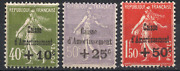 Stamps France Year 1931 Series N°275 To N° 277. New