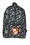 Betty Boop Backpack With 16 Inches Height Black Color