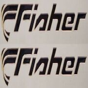 Tracker Fisher Boat Black Foam Filled Decals Pair Decal