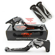 For Fz8 2011-2015 Cnc Fold Extend Brake Clutch Levers Grips Handle Logo 2012 14