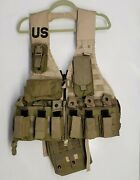 Us Army Dcu Desert Camo Fighting Load Carrier Flc Vest Rig Khaki Ammo Pouches