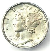 1920-d Mercury Dime 10c Coin - Certified Icg Ms64 Fb Full Bands - 1380 Value