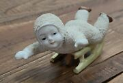 Snow Baby German Bisque Sled Sliding Christmas Snowbabies Large