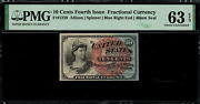 Fr-1259 0.10 Fourth Issue Fractional Currency - 10 Cent - Graded Pmg 63 Epq