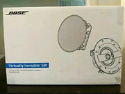 Bose Virtually Invisible 591 In-ceiling Speaker Pair White New Free Shipping