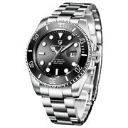 Mens Watches Automatic Mechanical Stainless Steel 10atm Waterproof Divers Watch