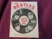 The Beatles 1964 Gumball Machine Front 5 X 4 Insert Nmint Rare Clean Vtg Htf