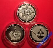 25 Roubles 2016 Russia Diamond Fund Of Russia Order Crown Scepter Silver Proof