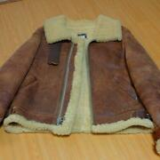 Avirex Authentic Vintage B-3 Leather Flight Bomber Jacket 40 Used From Japan