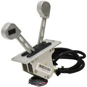 Livorsi Boat Dual Throttle Control Dtssbs20s   Silver With Trim