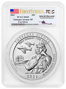 2021 Tuskegee Airmen National Historic Site 5oz Silver Atb Pcgs Ms69 Fs Mercanti