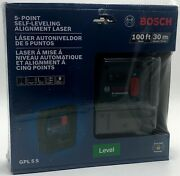 Bosch 100ft 5 Point Self Leveling Plumb And Square Alignment Laser-000346454338