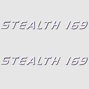 Misty Harbor Stealth 169 Violet / Blk/white 13 1/4 X 1 1/4 In Boat Decals Pair