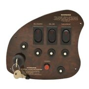 Rinker Boat Ignition Switch Panel 41094 | 7 1/2 X 6 5/8 Dark Woodgrain