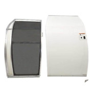 Larson Boat Sliding Door   Curved 28 X 42 Inch W/ Screen White 2 Pc