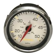 Premier Boat Speedometer Gauge Se4013a   Signature White Ss 3 3/8 Inch