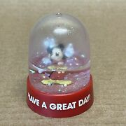 Vintage Disney Mickey Mouse Snow Globe Pencil Sharpener And039have A Great Dayand039 Red
