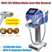 1064/755/808nm Diode Laser Permanent Body Facial Hair Removal Beauty Machine Spa