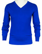 Fioroni Russell In Blue From Cotton/cashmere