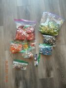 3 Lbs Blue Red Orange Lime Green Aluminum Can Tabs Pull Tabs Pop Tops Soda