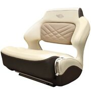 Chaparral Boat Helm Seat 31.00725 | 307 Ssx Wide Bolster Cream Brown