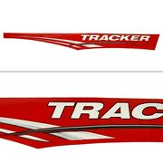 Tracker Boat Graphic Decal 135558 | Black Red White Gray 94 Inch