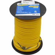 Smart Boat Marine Grade Battery Cable | 6 Awg Yellow 100 Ft Tinned