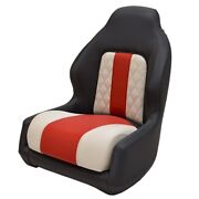 Glastron Boat Helm Seat 048-1924   Black Red Cream Tears
