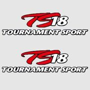 Triton Boat Decal 1869153   Tournament Sport Ts 18 Red White Pair