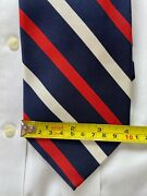 Brooks Brothers 60 Silk 40 Cotton Multicolor Striped Wide Tie Made In Italy