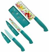 Pioneer Woman Sweet Romance Floral 3 Pc Stainless Steel Knife Knives Cutlery Set