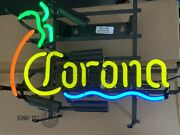 """Ghn Neon Sign Corona Beer Sign 16""""x12"""" Palm Tree Excellent Made In Usa"""