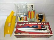 Vintage Mitsuwa Power Boat Model With Yamaha 140hp Toy Outboard Motor