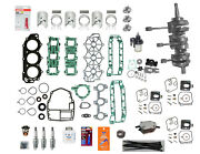 Rebuild Kit Super Deluxe 6h4-11400-10-00 Yamaha Std And .020 40 50 1984 - 2008