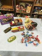 Vintage Tin Toy Lot As Is Not Working Parts Lot