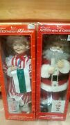 Vintage 24 Telco Motionette Santa And Mrs. Clause 1990 Rare