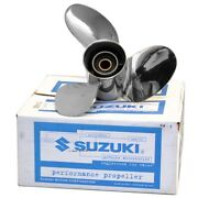 Suzuki 13 1/4 In X 20 Pitch 3-rh Stainless Steel Boat Propeller