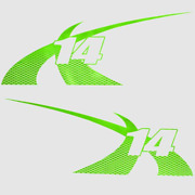 Boat Model Decal 7501410 | Mastercraft 2012 X-14 / Lime Green Pair