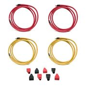 Standard Red 18 Ft. / Yellow 16 Ft. 2 Awg Boat Battery Cable Kit W/ Boots
