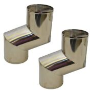 Chaparral Boat Exhaust Elbow   W/ Baffle 5 Inch Stainless Pair