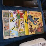 Huckleberry Hound 5 Issue Silver Bronze Age Dell Gold Key Silver Modern Age Lot