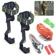 Tree Climbing Spike Kit Safety Belt +straps Safety Lanyard With Carabiner And Rope
