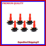 6pc Ignition Coil Jsb287 For 2001 2002 2003 2004 2005 Subaru Legacy H6 3.0l
