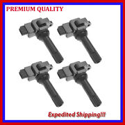 4pc Ignition Coil Jsb664 For 2011 2012 Subaru Forester 2.5l H4