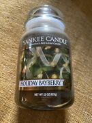 Yankee Candle Holiday Bayberry Large 22 Oz Jar -new Old Stock -retired Scent