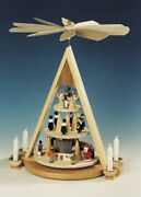 Table Pyramid Ore Mountain Christmas Height 16 7/8in New Table Decoration