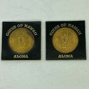 Hawaii Dollar Honolulu Coin Medal Token Lot Of 2 Gold Tone Us United States B30