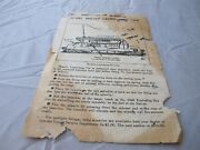 Lionel Instructions For Operating Missle Launching Car Tattered