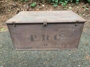 Rare Wwi Us Army Medical And Surgical Chest Med Dept Pressed Steel Patent 1910